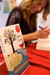 Adrienne signing books at her Central Coast launch