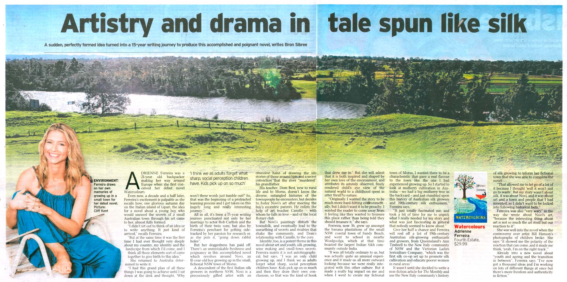 Review of Watercolours appearing in the Courier Mail